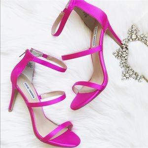 Steve Madden Fuchsia Satin Sandals
